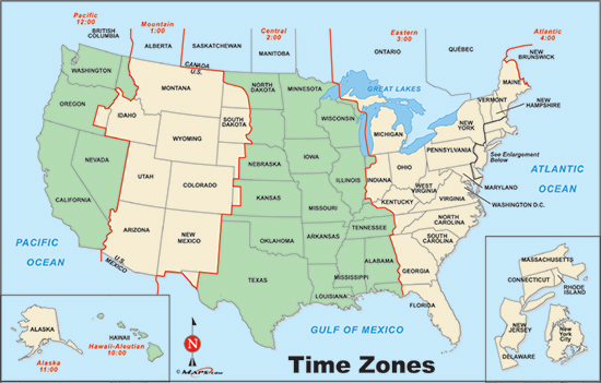 Usa Time Zone Map with States Printable - Efestudios.co